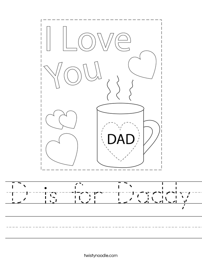 D is for Daddy Worksheet