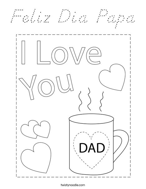 The Best Dad Mug Coloring Page