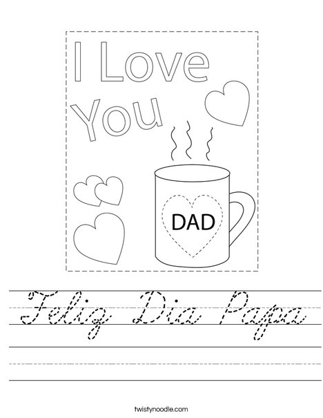 The Best Dad Mug Worksheet