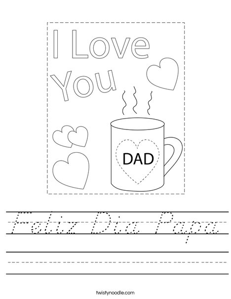 The Best Dad Mug Worksheet