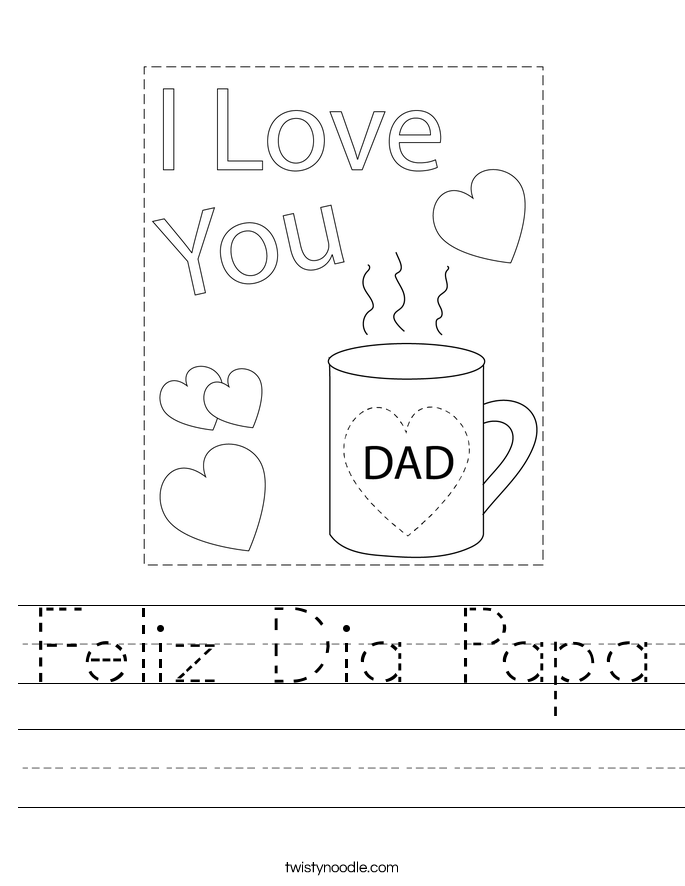 Feliz Dia Papa Worksheet