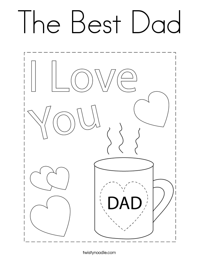 the best dad coloring page - Dad Coloring Pages