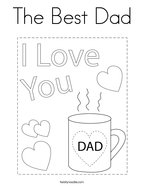 The Best Dad Coloring Page