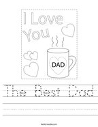 The Best Dad Handwriting Sheet