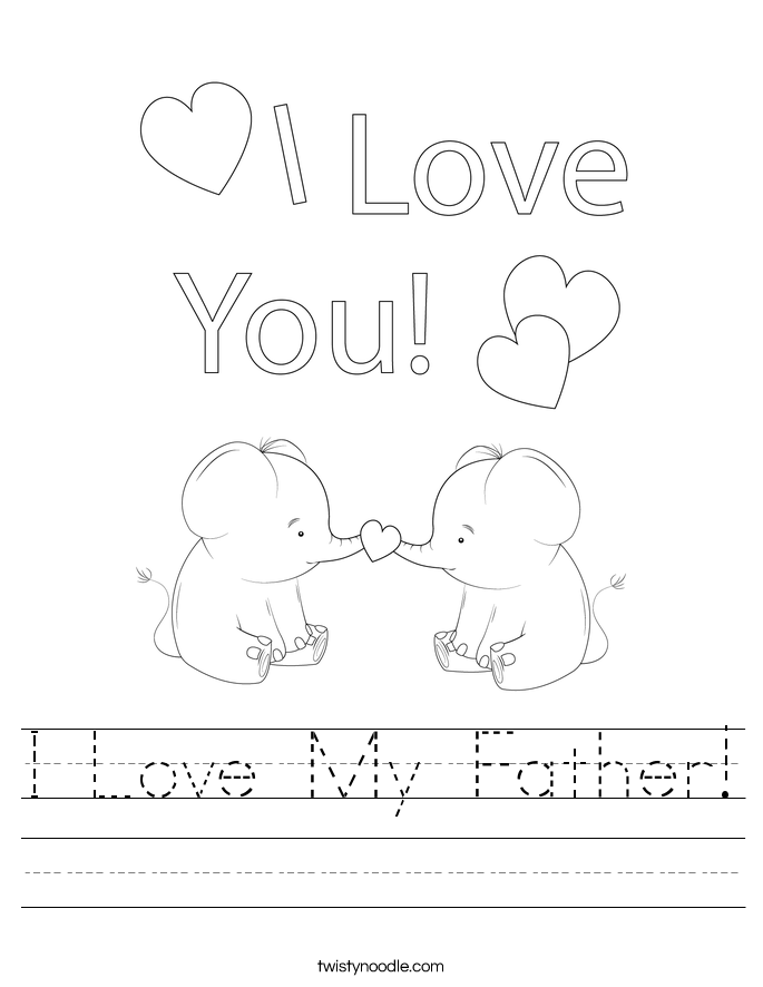 I Love My Father! Worksheet