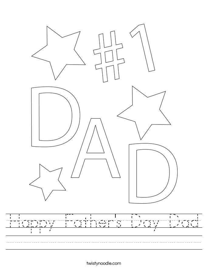 Happy Father's Day Dad Worksheet