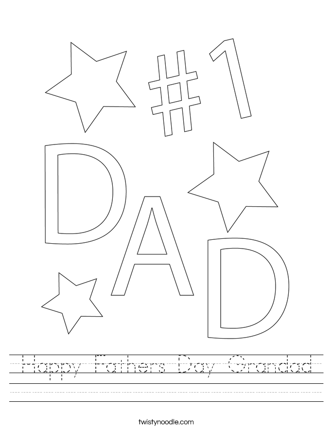 Happy Fathers Day Grandad Worksheet