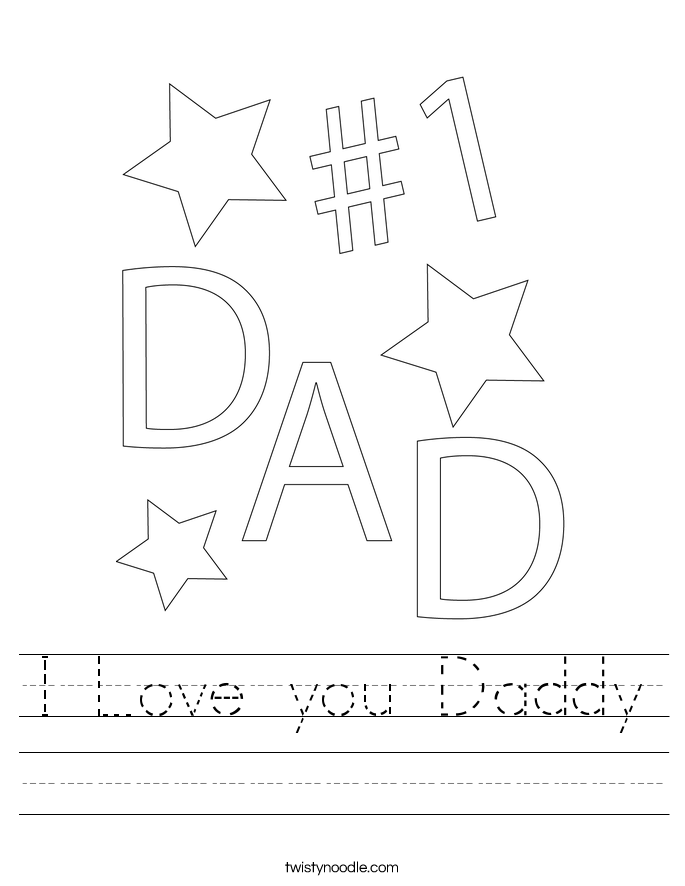 I Love you Daddy Worksheet