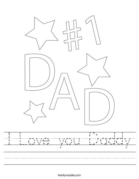 #1 Dad Worksheet