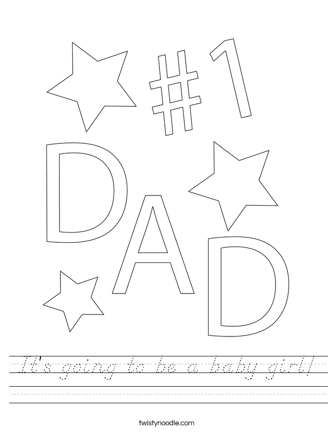 It's going to be a baby girl! Worksheet