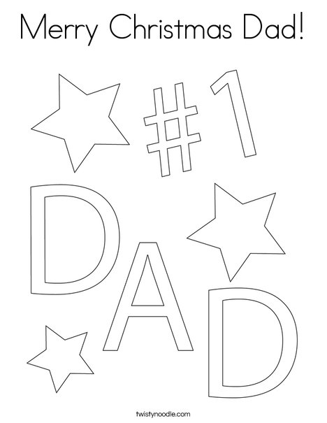 1 dad coloring page - Merry Christmas Dad
