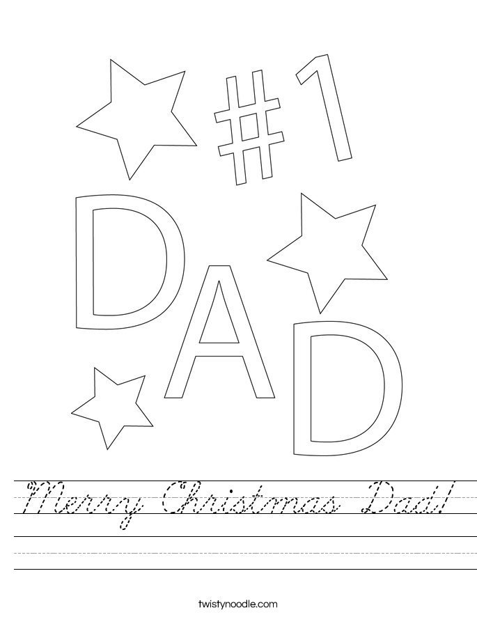 Merry Christmas Dad! Worksheet