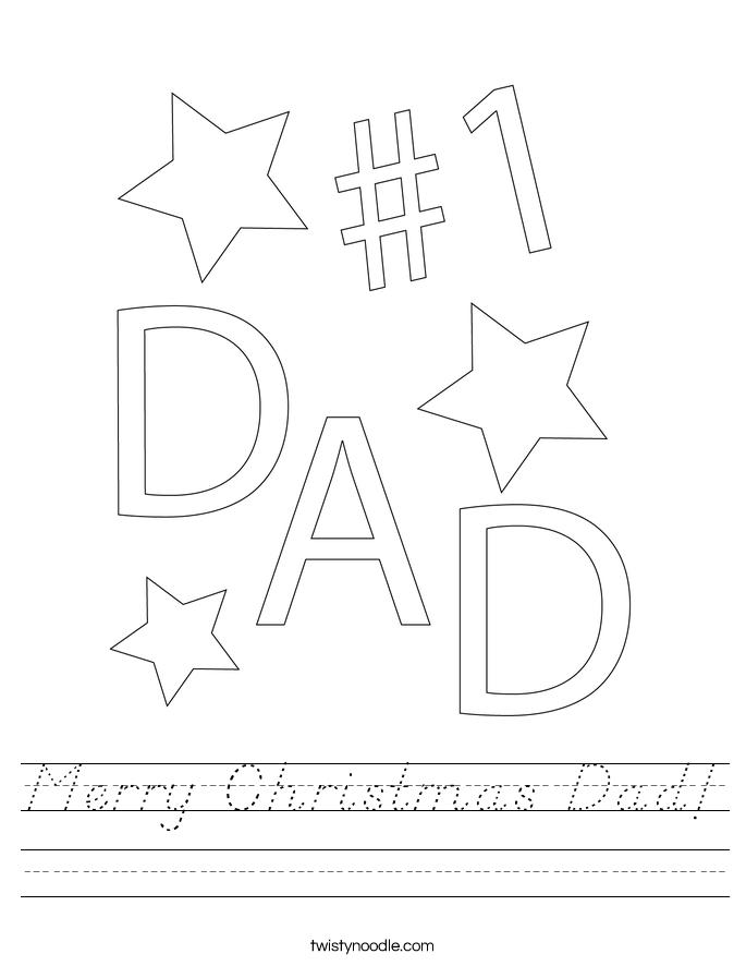 Merry Christmas Dad! Worksheet