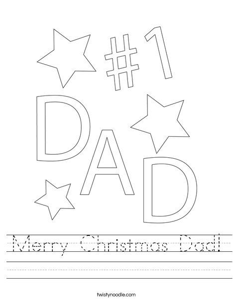 #1 Dad Worksheet