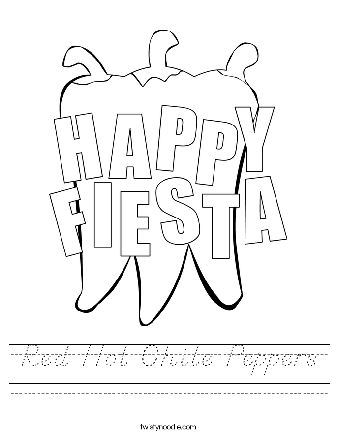 Red Hot Chile Peppers Worksheet