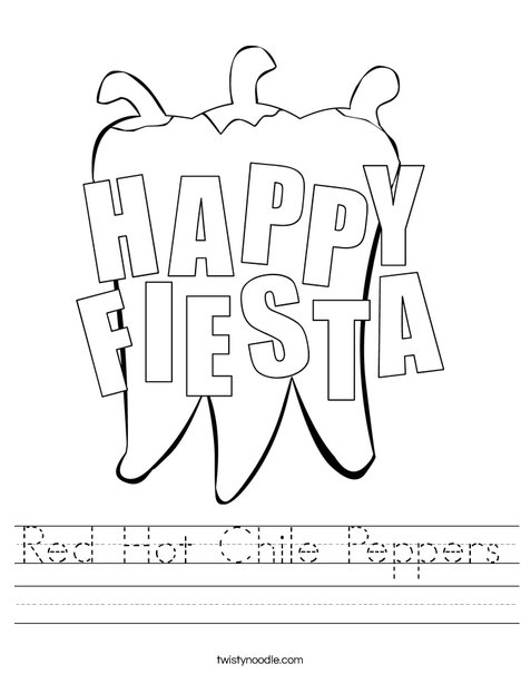 Happy Fiesta Peppers Worksheet