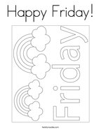 Happy Friday Coloring Page