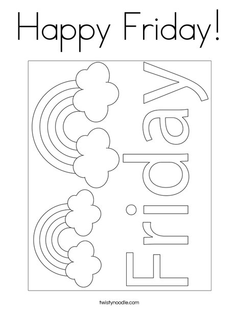 Happy Friday! Coloring Page