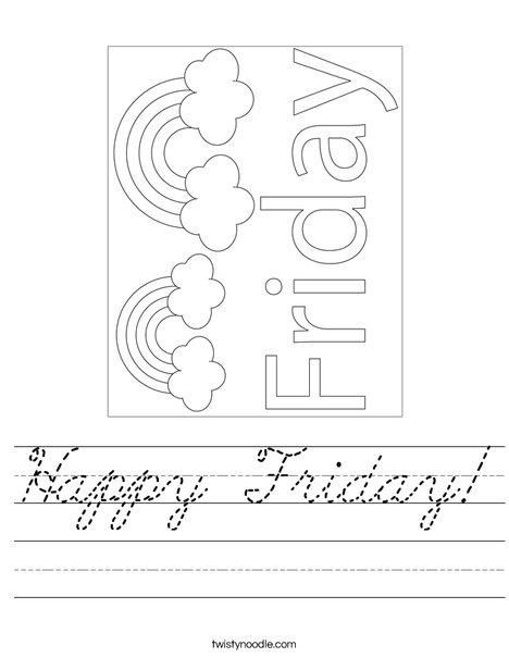 Happy Friday! Worksheet