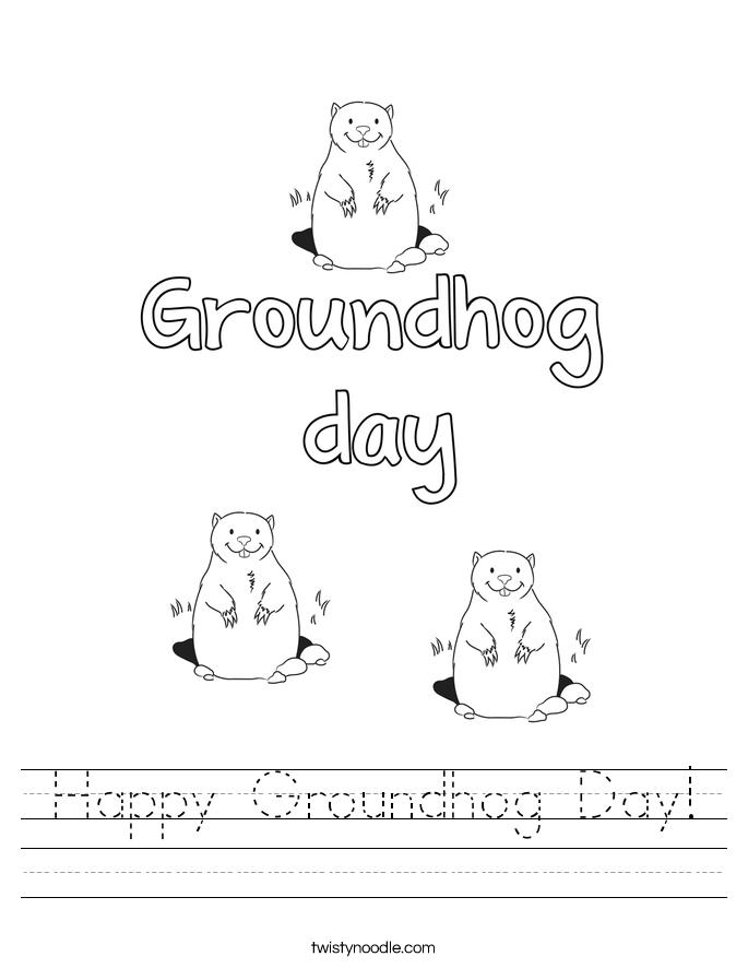 Groundhog Day Worksheets - Twisty Noodle