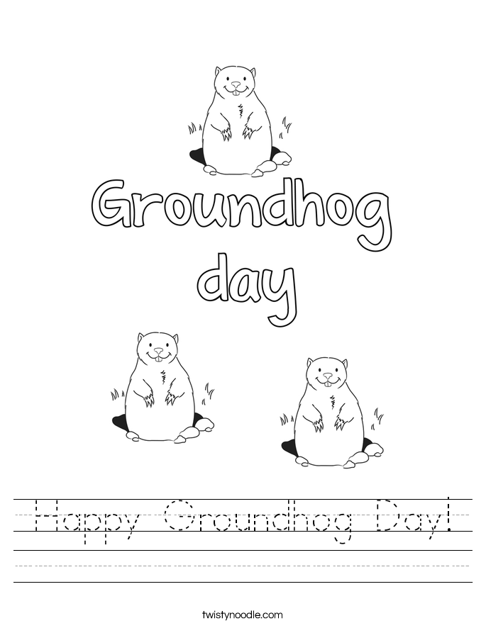 Groundhog Day Worksheets - Twisty Noodle