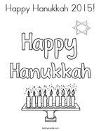 Happy Hanukkah 2015 Coloring Page