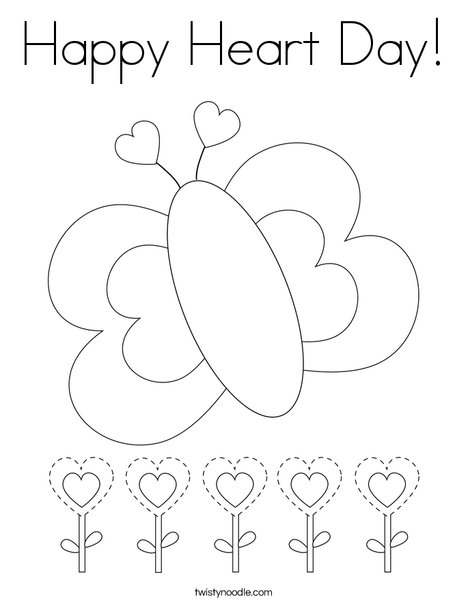 Happy Heart Day! Coloring Page