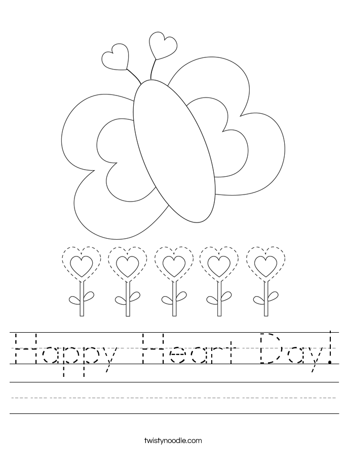 Happy Heart Day! Worksheet