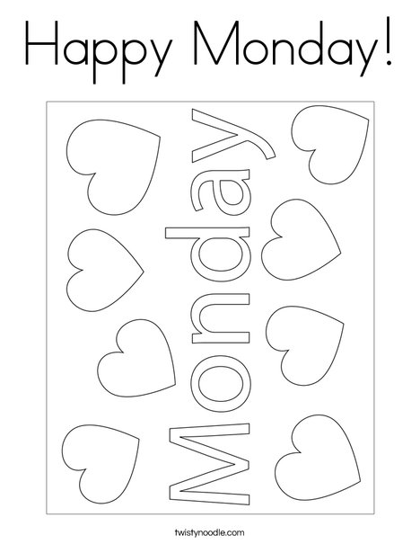 Happy Monday! Coloring Page