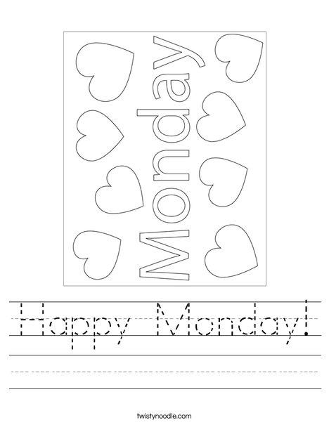 Happy Monday! Worksheet