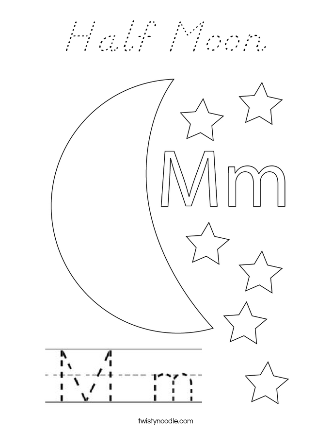 Half moon coloring page d 39 nealian twisty noodle for Half moon coloring pages
