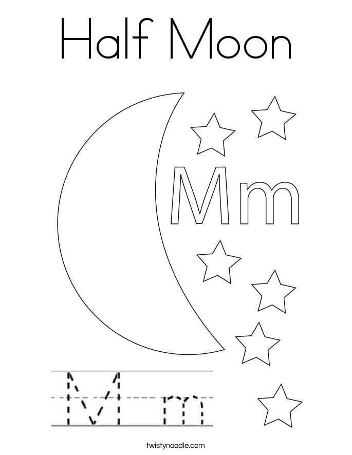 Half Moon Coloring Page
