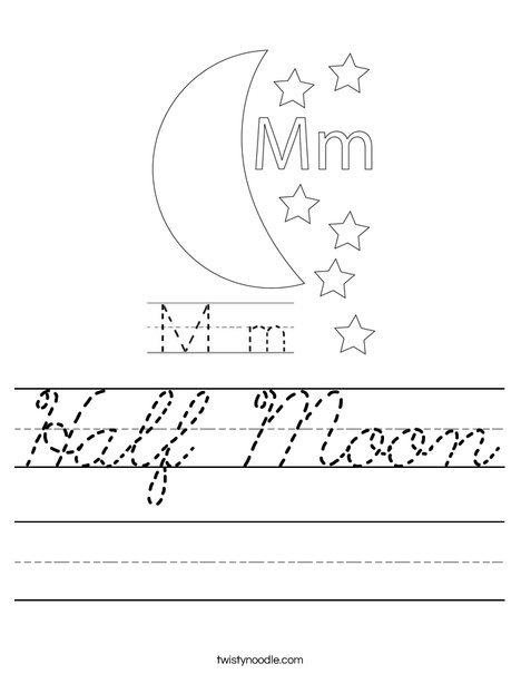Happy Moon Worksheet