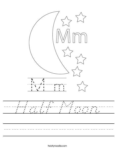 Happy Moon Worksheet