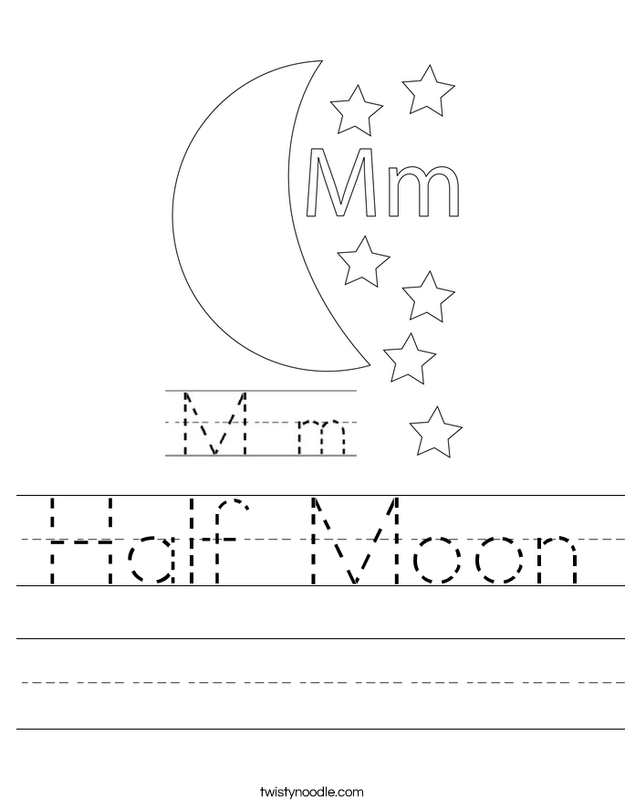 Half Moon Worksheet