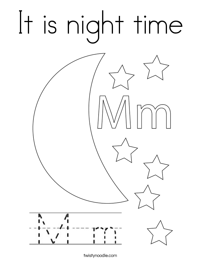 night time coloring pages - photo#6