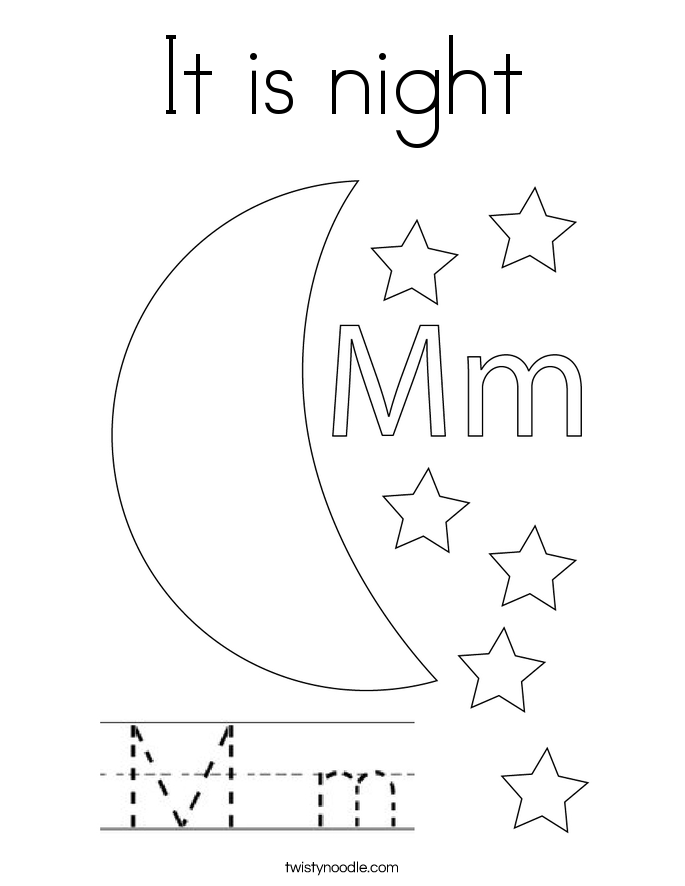 It is night Coloring Page