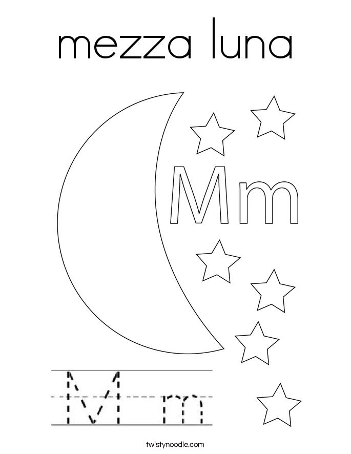 mezza luna Coloring Page