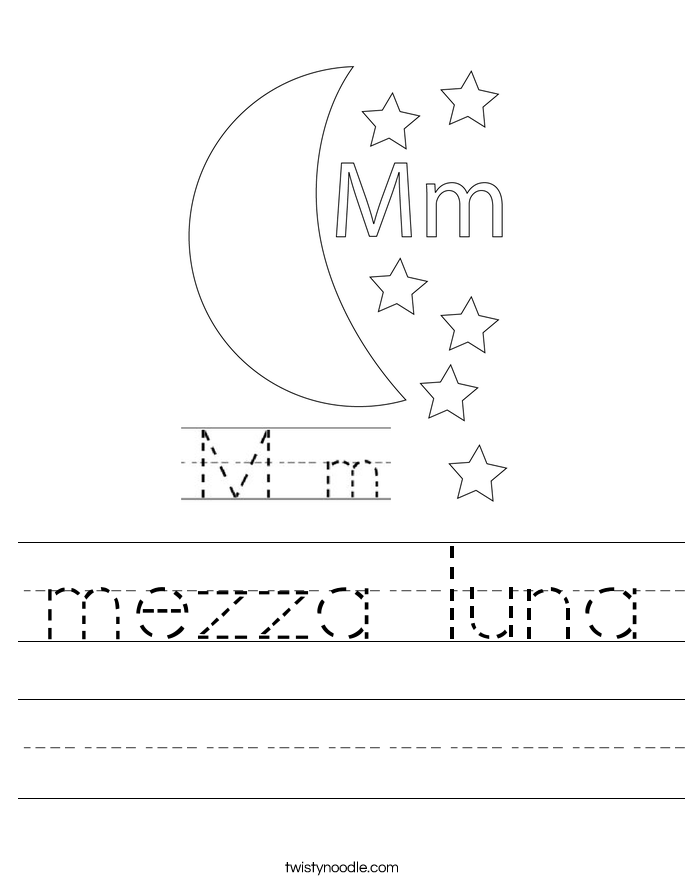 mezza luna Worksheet