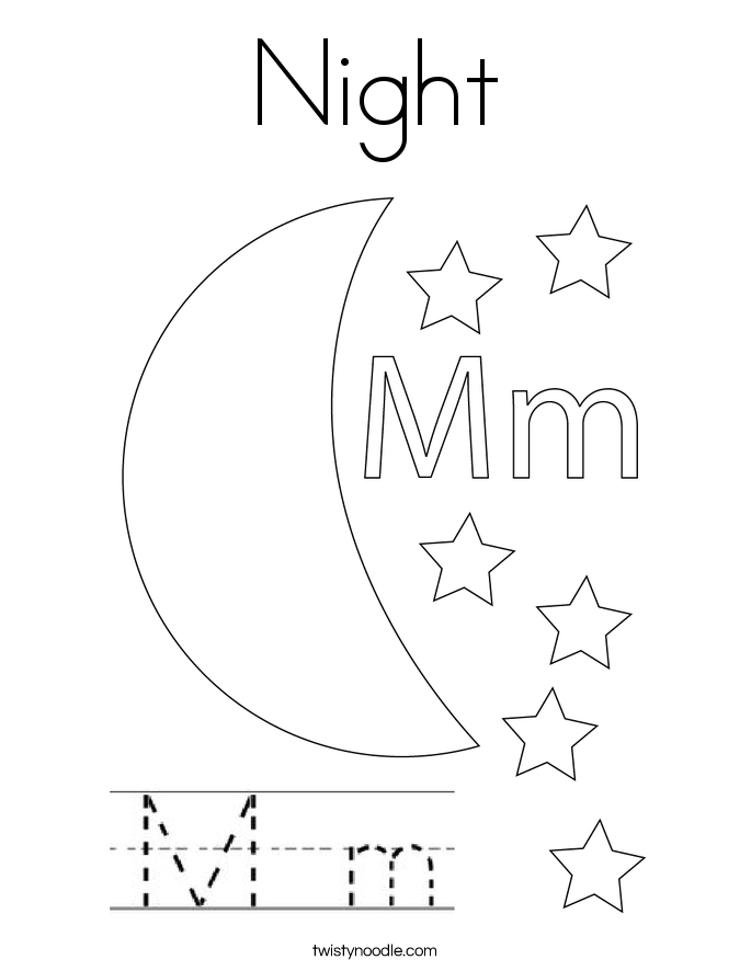 Night Coloring Page