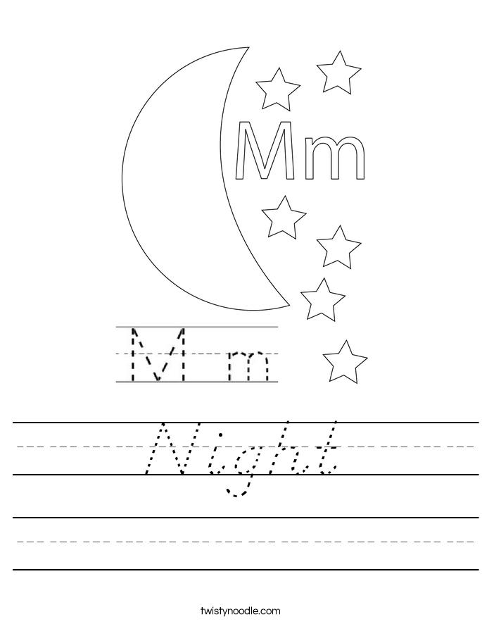 Night Worksheet