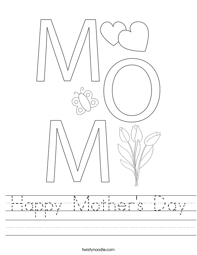 happy mothers day worksheet twisty noodle ash wednesday printable worksheets mothers day printable worksheets source mothers day coloring day pages