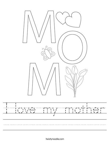 I Love You Heart Worksheet