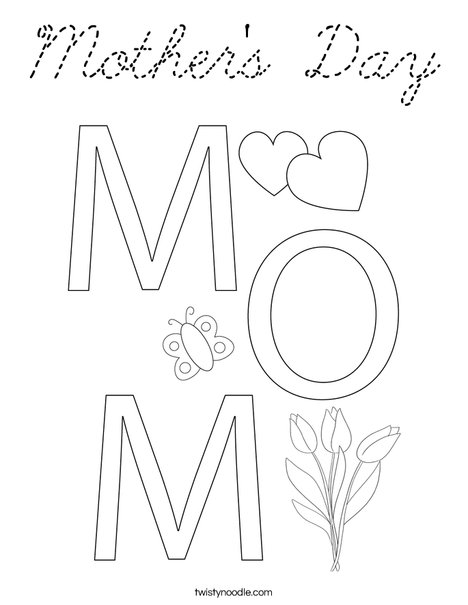I Love You Heart Coloring Page
