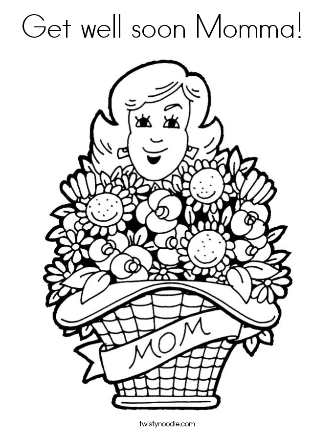 Cute Get Well Soon Coloring Pages Best Coloring Page 2017