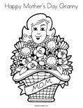 Happy Mother's Day GrannyColoring Page