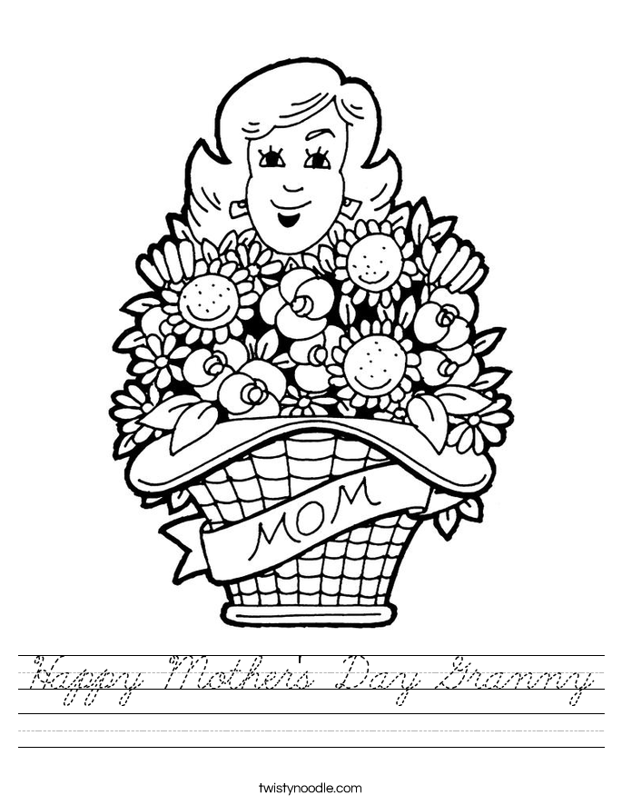 Happy Mother's Day Granny Worksheet