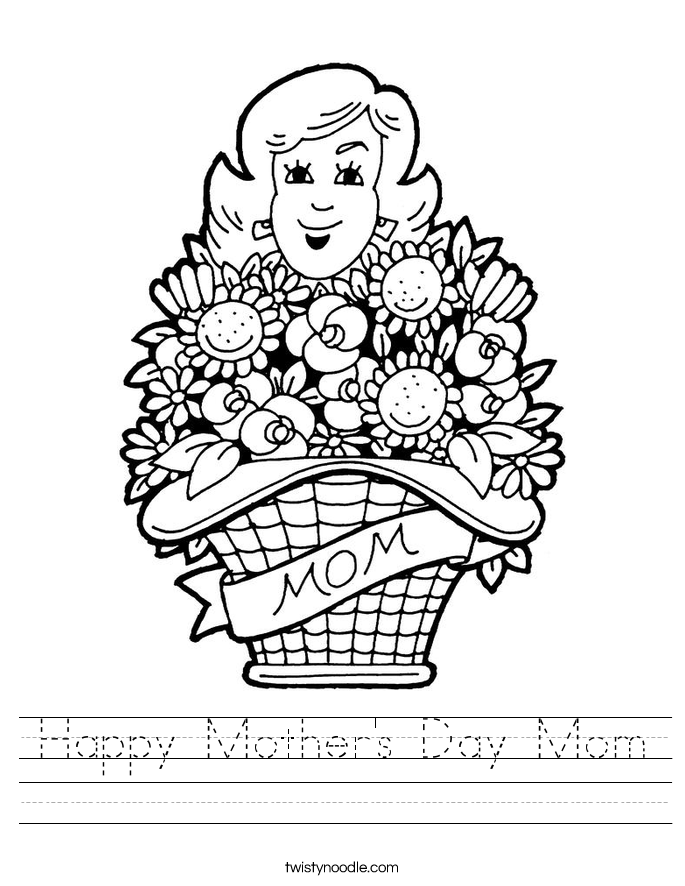Happy Mother's Day Mom Worksheet