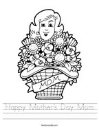 Happy Mother's Day Mom Handwriting Sheet