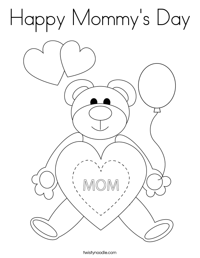 Happy Mommy's Day Coloring Page